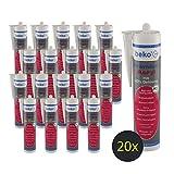 [page_title]-20 x Beko Premium-Acryl mit 20 Prozent Dehnung, Spezial-Dichtstoff - 310ml