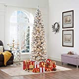 Naomi Home Pre-Lit Snow Frosted Christmas Tree Green/6 ft/25