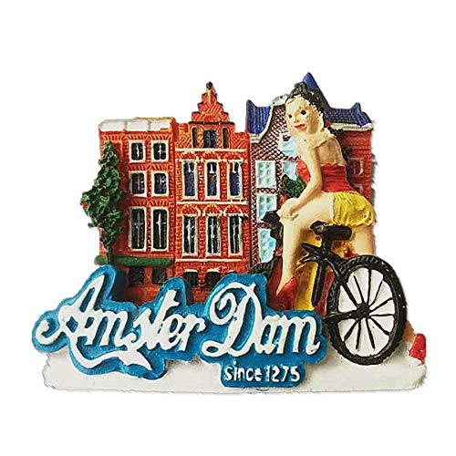 3D Amsterdam Niederlande Kühlschrankmagnet Souvenir Geschenk Home & Kitchen Decor Magnet-Aufkleber, Amsterdam Holland Kühlschrankmagnet