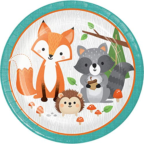 Wild One Woodland Paper Plates, 24 ct