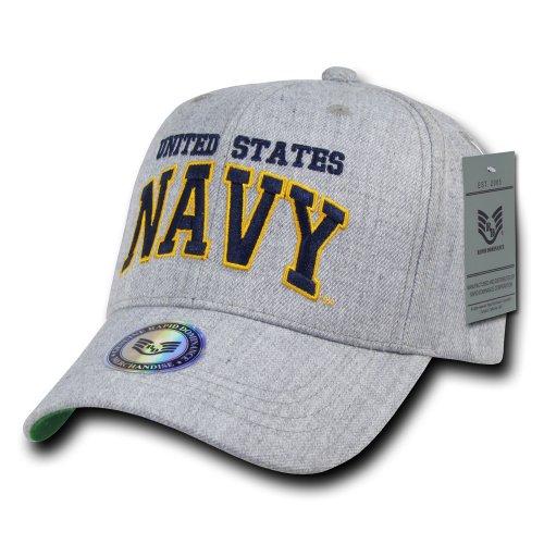 Rapiddominance Heather Grey Military Cap, Navy