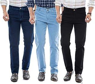 Moudlin Slimfit Black,Darkblue,SkyBlue Stretchable Combo Pack of 3 Jeans for Men
