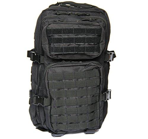Sac à dos US Army Assault Pack - Noir - 30 l - Taille L - Avec porte-bonheur doré