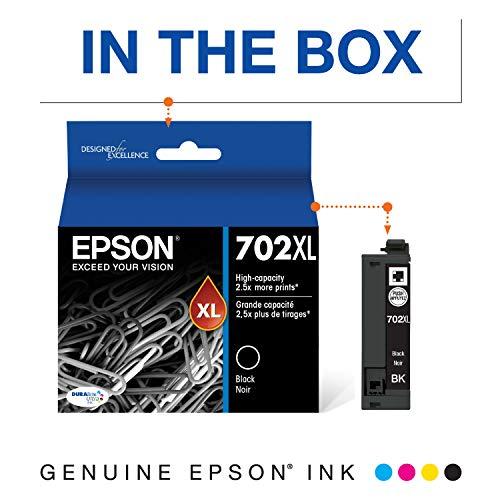 Epson T702XL120-S DURABrite Ultra Black High Capacity Cartridge Ink Photo #5