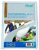 OASE 43334 Folienunterlagen Teich-Schutzvlies 200 g/m² / 2 x 5 m, weiß | Teichvlies | Schutzflies