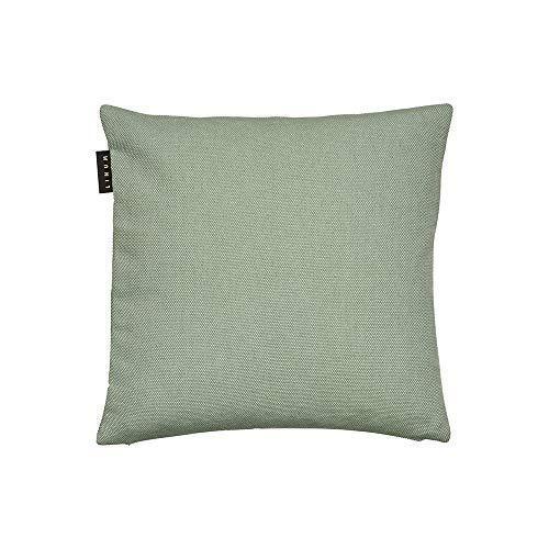 LINUM PEPPER Eleganter Kissenbezug für Dekokissen 40cm x 40cm, 100% Baumwolle, Maschinenwaschbar, Helles Eisgrün