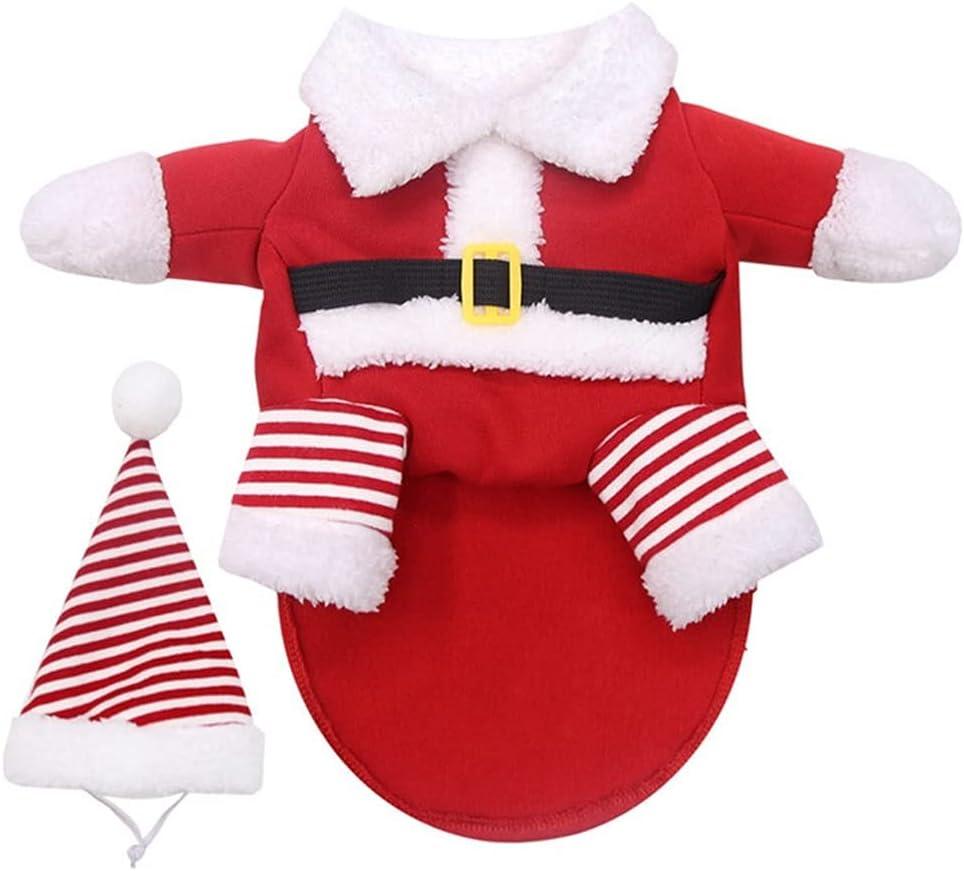 Pet Dog Clothes Christmas Santa Makeover Miami Mall Claus 100% quality warranty