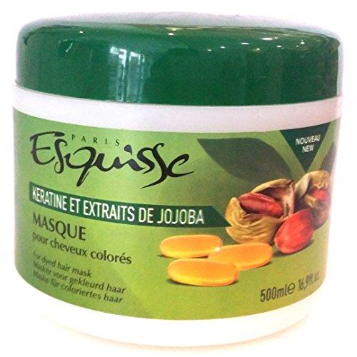 Masque esquisse cheveux colorés kératine et jojoba 500 ml lot de 3