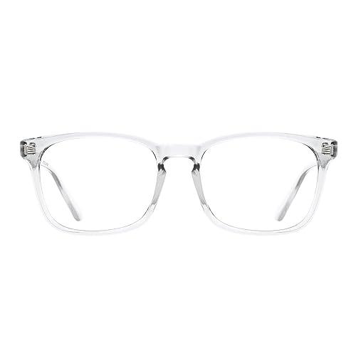 5bd0f1bb11 TIJN Unisex Stylish Square Non-prescription Eyeglasses Glasses Clear Lens  Eyewear
