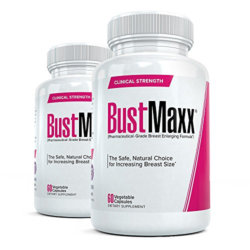Bustmaxx - All Natural Breast Enhancement and Enlargement Pills (2 Bottles) | Bust Amplification Supplement with Saw Palmetto, Fenugreek and Dong Quai, 120 Count