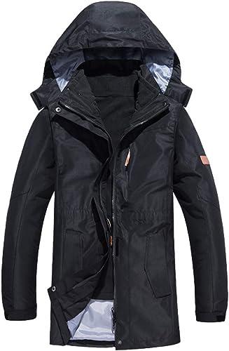 CIKRILAN Femmes de plein air Capuche 3 en 1 Imperméable Longue Polaire Doubleure Veste Les Les dames Voyage Camping Ski Coupe-Vent Manteau