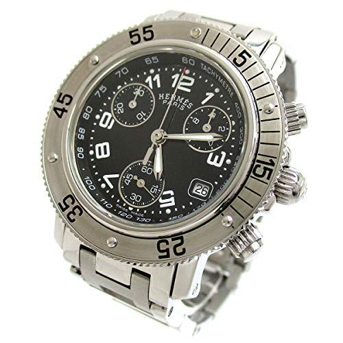 [エルメス]Hermes 腕時計 クリッパー ダイバークロノグラフ CL2.310 黒文字盤
