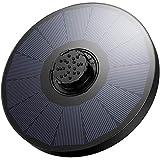 OMORC Pompe Solaire 2.2W, fontaine solaire extérieure, Buse 4-en-1 Améliorée, Installation Facile, pour Bain d'Oiseaux, Aquarium, Décoration de Jardin, Diamètre 16cm, 2 Cotons Filtrants