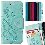 LEMORRY para Samsung Galaxy Note8 Funda Estuches Cuero Flip Billetera Bolsa Piel Protector...
