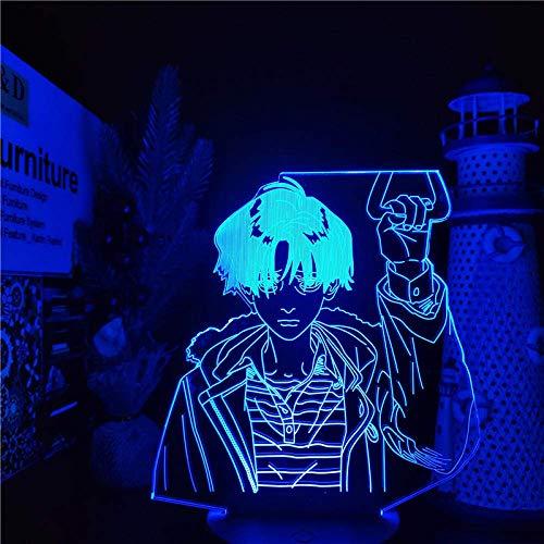 Lámpara de noche 3D Killing Stalking Yoon Bum, luces de noche, lámpara de Anime, lámpara que cambia de 7 colores para decoración de dormitorio-Fernbedienung