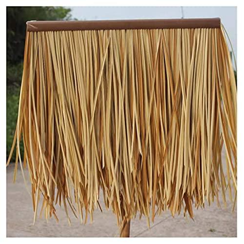 Azulejo de hierba falsa Protección de palma de caña Paja de plástico PE Decoración con techo de paja Paja falsa para el borde del techo en la barra de la cubierta Decoración de punto escénico Rollo de