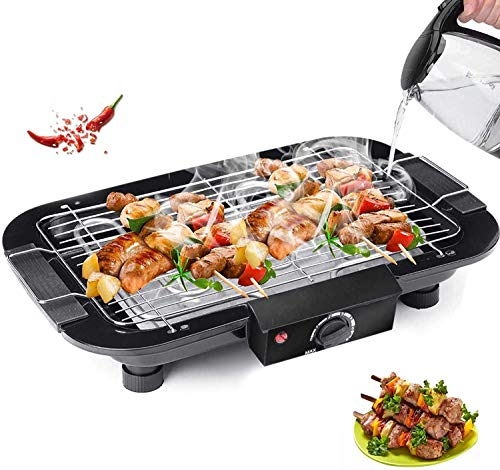 Kresal Electric Barbeque Grill 2000W Tandoori Maker Indoor and Outdoor Grill, Non Stick, with 5 Temperature Adjustments, Portable Electric Grill, Non-Slip Feet