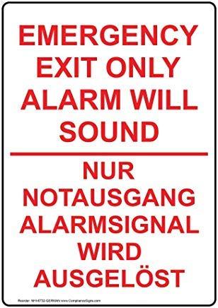 Notausgangs-/Feuer-Schild, Aluminium...