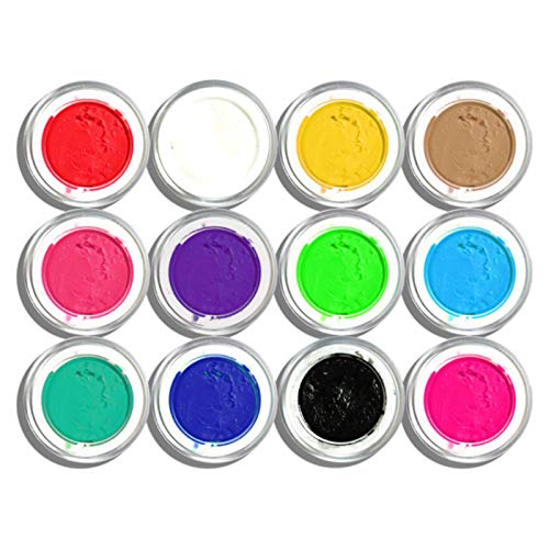 Anself 12 Flaschen nail gel 3D Sculpture Gel Nagel DIY Styling Carving Gele für Nail Art Dekoration UV LED Nagel Werkzeuge
