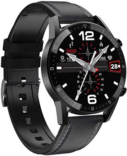 Deportes Fitness D-T92 Reloj Inteligente Hombres s Llamada Bluetooth Pantalla Táctil Completa Impermeable Cara Personalizada Smartwatch para Android IOS-D