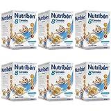 Nutribén Papillas, Desde Los 6 Meses, 8 Cereales, Pack De 6 unidades x 600 g