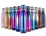 willceal - Botella de Agua de Doble Pared de Acero Inoxidable con Aislamiento al vacío, 500 ml, a Prueba de Fugas, para...
