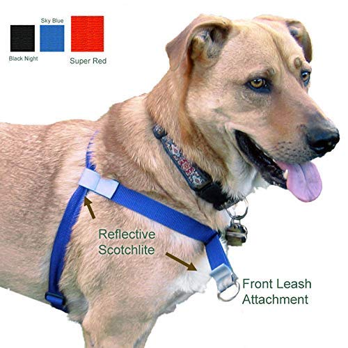 Walk Your Dog with Love, No-Pull Front-Attachment Harness (Super Red, 55-120 pounds)