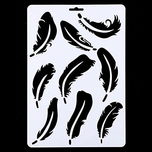 Naisicantar creux Feather Peinture murale Pochoir