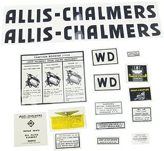 Decal Set - Black Mylar Allis Chalmers WD