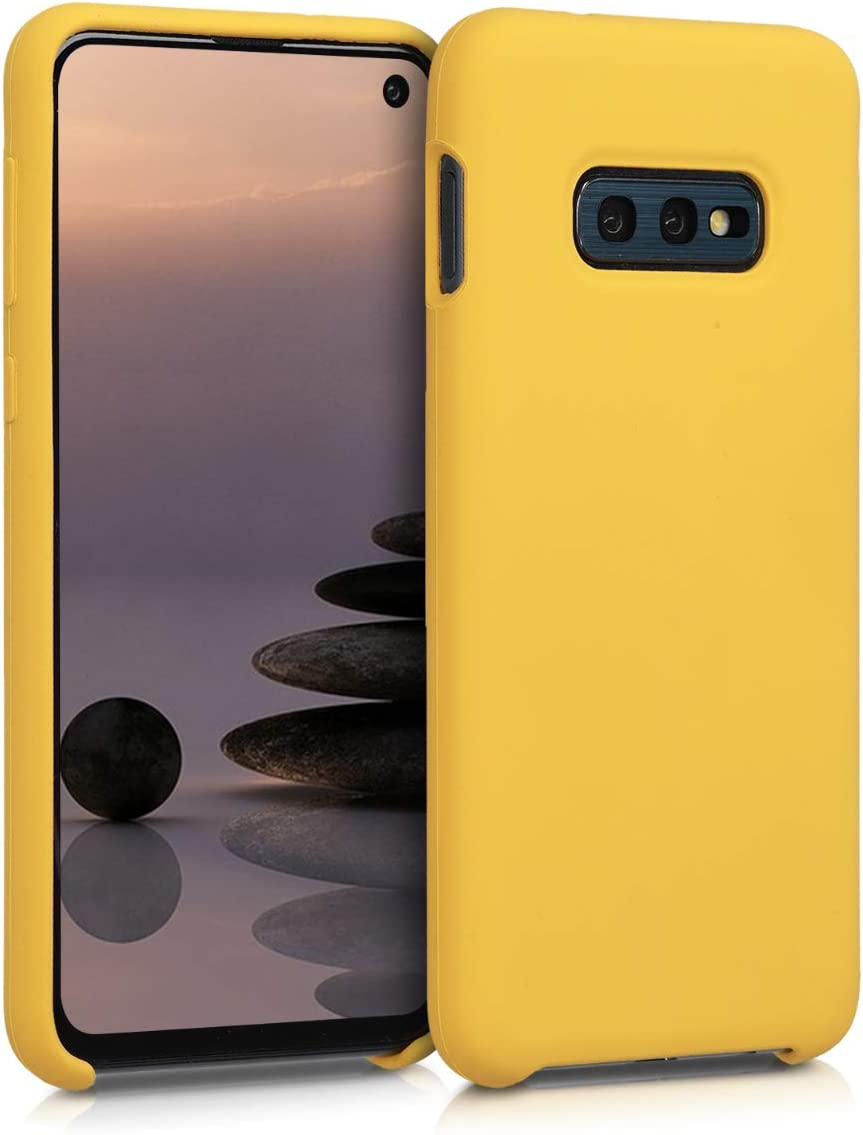 kwmobile TPU Silicone Case Compatible with Samsung Galaxy S10e - Case Slim Phone Cover with Soft Finish - Honey Yellow