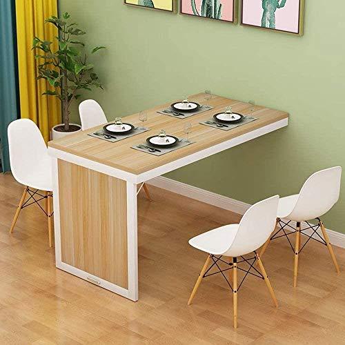 JIADUOBAO Mesa plegable para niños, mesa de comedor, mesa de aprendizaje montada en la pared (tamaño 90 x 60 x 75 cm)