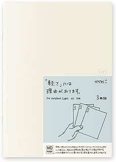 MIDORI MD Notebook Light A5 (Gridded) 3 pcs/pack
