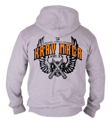 Dirty Ray MMA Krav Maga Herren Men's Kapuzen Hooded Sweatshirt Hoodie B72 (XXL)