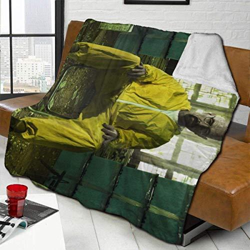 Breaking Bad Throw Blanket Ultraweiche Bettwäsche Hautfreundlich Warm Flanell Alle Jahreszeiten für Schlafzimmer Home Wohnzimmer Sofa 80'x 60'