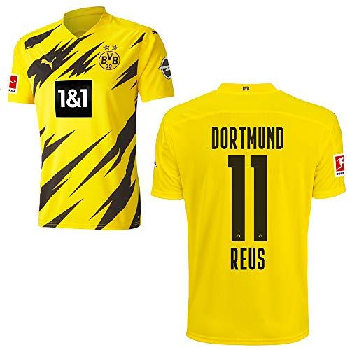 PUMA Borussia Dortmund BVB Heimtrikot 2020 2021 Home Trikot Sponsor BL Logo Kinder Marco Reus 11 Gr 140