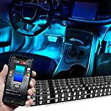 OPT7 Aura PRO Bluetooth Smart-Color LED Double Row Strip Interior Lighting Kit - 6pc- App Enabled- iOS & Android