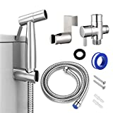 Tesyfk Handheld Bidet Toilet Sprayer, Stainless Steel Bathroom Bidet Sprayer Kit for Toilet Cloth Diaper Sprayer, Baby Cloth Diaper Sprayer Combo and Shower Attachment