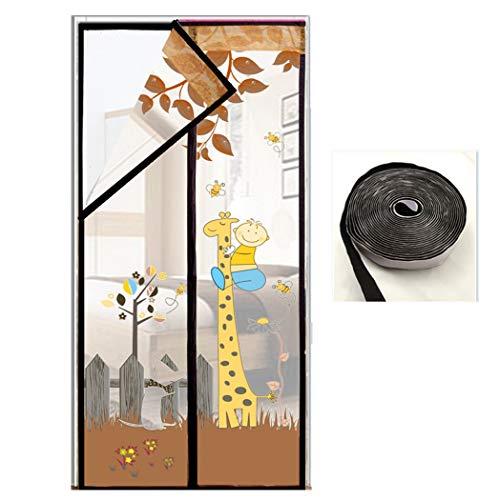 Magnetische Fly Screen Door Klamboe Gordijn De leuke Kant Mesh Magnetic Anti-Mosquito Deurgordijn voor Corridor Balkon Sliding Doors, eenvoudig te installeren,A,90 * 210CM