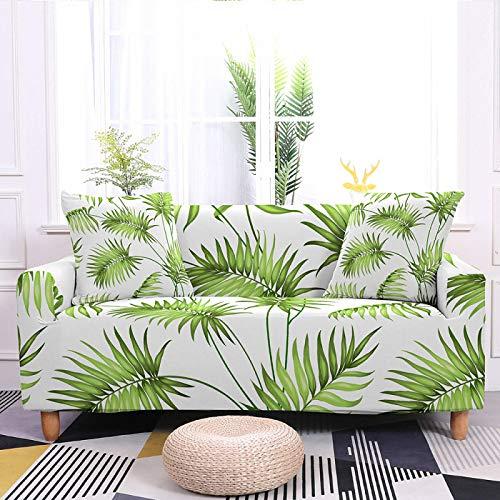 zzzddd Elastic Sofa Cover Sofa Cover Elastic Special Cushion Sofa, Sofa Cover Furniture Protection Cushion, Non-Slip Elastic Bottom Chair Cover, Tropical Leaf Printing,1,Seat 90,140Cm