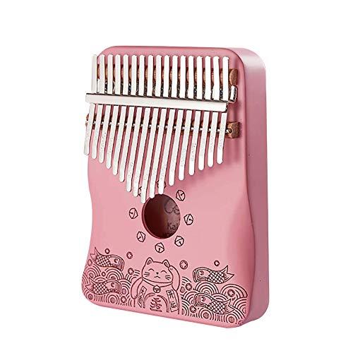 BEAUTYBIGBANG Daumen Klavier rosa Kalimba 17-Ton Kalimba Finger Daumen Klavier Fünf Finger Klavier Instrument-1 Stk