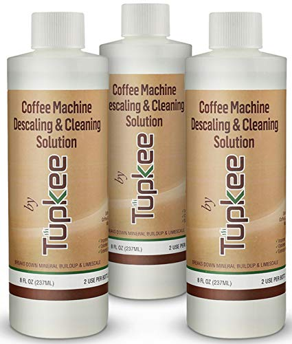 Descaling Solution Coffee Maker Cleaner – Universal Descaler for Keurig, Nespresso, Delonghi, Ninja and All Single Use Coffee and Espresso Machines – Pack of 3