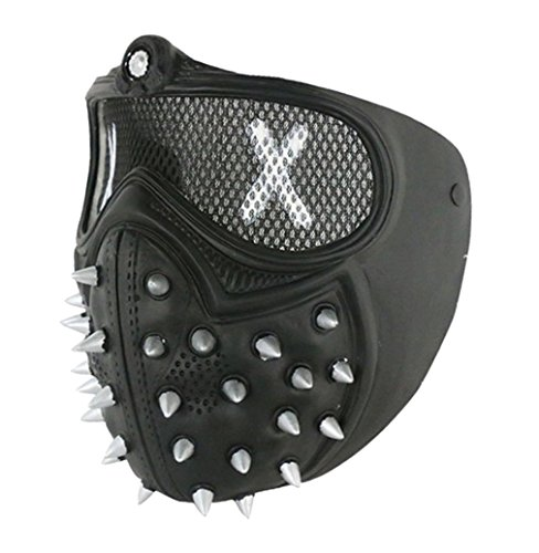 Hot Game Wrench Costume Vest Wrench Mask Men's Punk Rivets Studded Biker Vest (Mask, Mask)