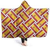 VAADIOSII Überwürfe/Decke, die bequem, leicht & eng anliegend ist, Spanien Flagge Flagge Couch Stuhl Wohnzimmer Herbst Winter Frühling 50