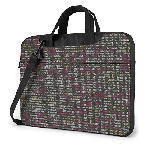 Laptop-Umhängetasche Programmierer Programmcode Gedruckte stoßfeste Laptop-Umhängetasche Aktentasche 15,6 Zoll