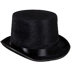 Henbrandt Top Hat Black Velour (Adult) #1