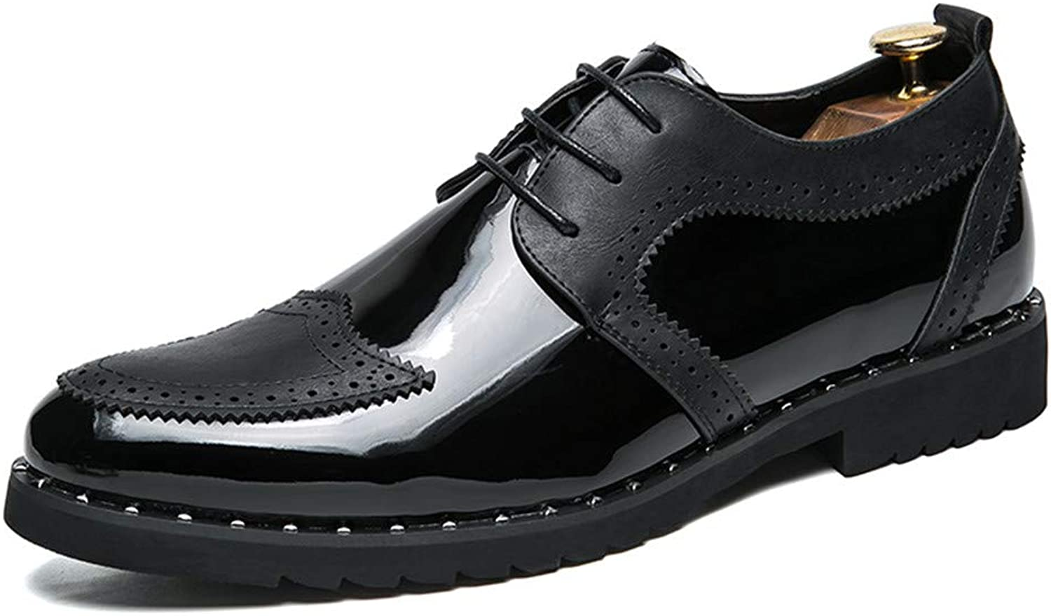 CHENXD shoes, Men's Fashionable British Style Oxfords Flat Heel Lace up shoes
