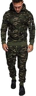 Men's Jogger 2Pcs Set,Autumn Splicing Zipper Sweatshirt Pants Sets Sport Suit Tracksuit