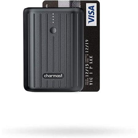 Charmast 10000mAh モバイルバッテリー 軽量 PD対応 小型 コンパクト 18W USB-C入出力 QC3.0 急速充電【PSE認証済み】 iPhone iPad Android対応