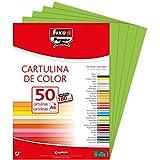 Fixo Paper 11110327 – Paquete de 50 cartulinas – tamaño A4 cartulina 180g color verde lima