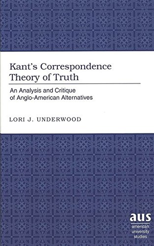 Kant's Correspondence Theory of Truth